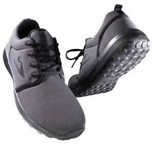 Sportschuh mit Schnürung, federleichte Sohle, Farbe schwarz, Gr.43