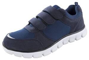 Sneaker mit Klettverschluss, Farbe marine, Gr.44