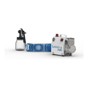 Aerotec Kompressor SANY AIR zum Desinfizieren von Oberflächen inklusive Zerstäuberflasche, 230 V