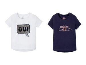 PEPPERTS® Kinder Pailletten T-Shirt Mädchen, mit Motiv