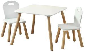 Kesper Kindertisch mit 2 Stühlen weiß