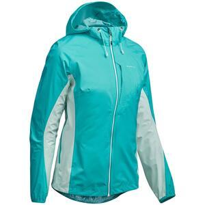 Regenjacke Speed Hiking FH500 Helium Rain Damen karibikblau