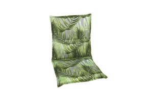 Garten-Sesselauflage 19216-02 n grün mit Palmenmotiv, Niederlehner