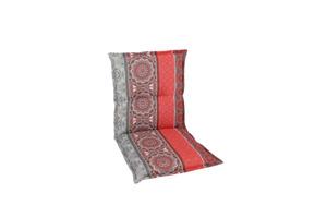 Garten-Sesselauflage in rot/grau, Niederlehner