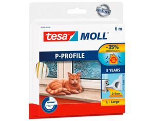 tesamoll® P-Profil-Gummidichtung ca. 6 mx 9 mm x 5,5 mm weiß
