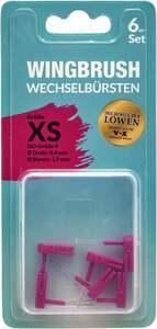 WINGBRUSH 6er Set Wechselbürsten Gr. XS ISO 0 pink