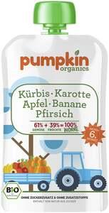 Pumpkin Organics Bio Wonne Kürbis, Karotte, Apfel, Banane und Pfirsich