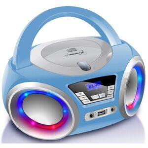 Cyberlux CD-Player CD/MP3 USB mit LED-Beleuchtung blau