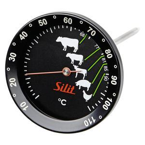 Silit Bratenthermometer , 2141283706 , Grau, Grün, Rot, Schwarz , Metall, Glas , 7x7x17 cm , 0037310511