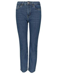 Damen Straight Fit High Waist Jeans