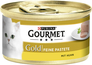 Purina Gourmet Gold Feine Pastete mit Huhn Katzenfutter nass 85 g