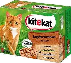 Kitekat Jagdschmaus in Sauce Katzenfutter nass Multipack 12x 100 g
