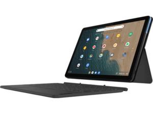 LENOVO IdeaPad Duet inkl. Pen, Chromebook mit 10,1 Zoll Display Touchscreen, P60T Prozessor, 4 GB RAM, 64 eMCP, ARM Mali G72 MP3 GPU, Eisblau/Eisgrau