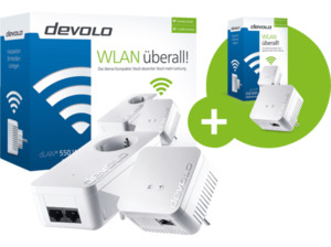 DEVOLO dLAN® 550 WiFi Starter Kit + 500 Mbit/s Kabellos und Kabelgebunden