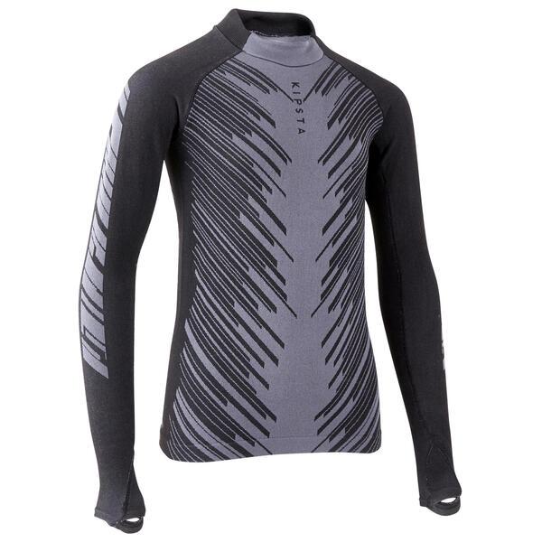 Funktionsshirt Keepwarm 900 warm und atmungsaktiv Kinder schwarz/grau