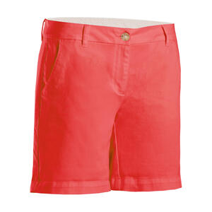 Golf Bermuda Shorts Damen erdbeerrot