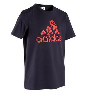 T-Shirt mit Logo auf der Brust Kinder blau
