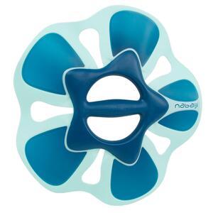 Aquafitness-Hanteln Pullpush Flower Größe L blau