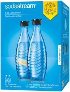 SodaStream Spülmaschinenfeste Glaskaraffe Duopack