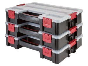 PARKSIDE® Werkzeugbox, 3-teilig, mitSoftgrip