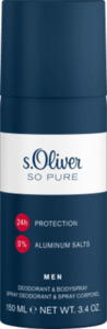 s.Oliver Men Deospray So Pure