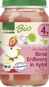 EDEKA Bio Birne Erdbeere in Apfel nach dem 4.Monat 190G