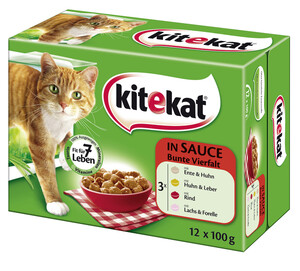Kitekat Bunte Vielfalt in Sauce Katzenfutter nass 12x 100 g