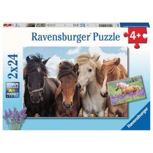 Puzzle-Box - Pferdeliebe - 2x 24 Teile