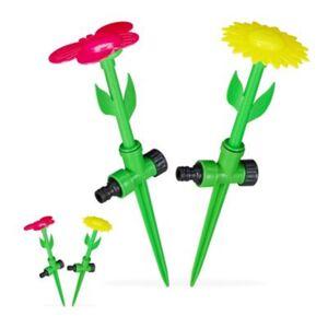 "4 x Sprinkler Blume, Spritzblume Garten, Rasensprenger Kinder, Beregner 1/2"" mehrfarbig  Erwachsene"