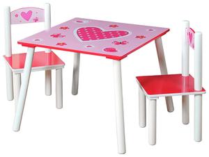 Kesper Kindertisch mit 2 Stühlen Herz