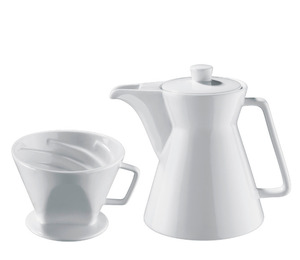 Cilio Kaffeekanne Weiß