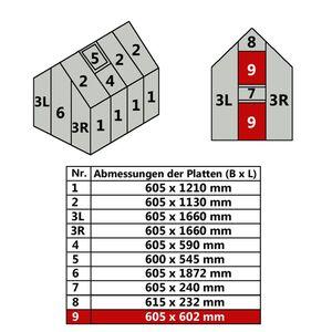 Hohlkammerstegplatte 60,5 x 60,2 cm