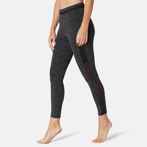 Leggings 7/8 520 Slim Sport Pilates sanfte Gym Damen schwarz meliert