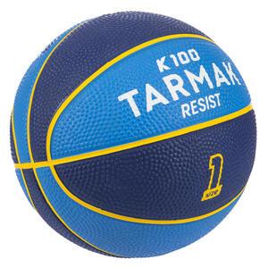 Basketball Mini K100 Gummi Größe 1 Für Kinder bis 4 Jahre blau