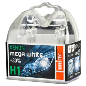 Scheinwerferlampe Xenon Mega White H1, 12 V, 55 W, 2 Stück