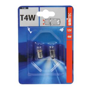 Kugellampe T4W, 2 Stück, 12V, 4W