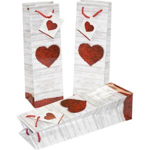 Flaschentasche Pure Love, mit Kordel
