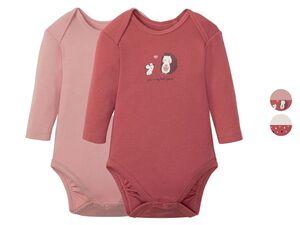 LUPILU® Baby Body Mädchen, 2 Stück, mit Knöpfung