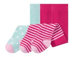 LUPILU® Baby Strumpfhosen Mädchen, 3 Stück, mit Noppen