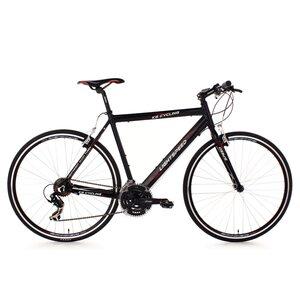 KS Cycling Fitnessbike Lightspeed 21 Gänge, 28 Zoll für Herren, Größe: 60, Schwarz