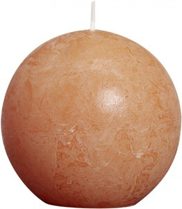 Bolsius Rustik Kugelkerze ,  orange, Höhe 8 cm, Ø 8 cm