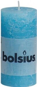 Bolsius Rustik Stumpenkerze ,  aqua, Höhe 10 cm, Ø 5 cm