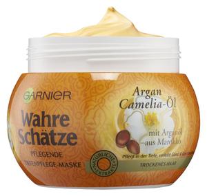 Garnier Wahre Schätze Argan- & Camelia-Öl Tiefenpflege-Maske 300 ml