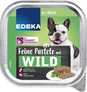 EDEKA Feine Pastete mit Wild Hundefutter nass 300G