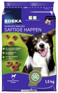EDEKA Komplett-Mahlzeit Saftige Happen Hundefutter trocken 1,5 kg