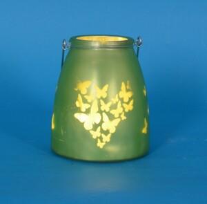 TrendLine LED Glaslaterne grün
