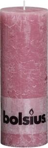 Bolsius Rustik Stumpenkerze ,  altrosa, Höhe 19 cm, Ø 6,8 cm