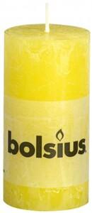 Bolsius Rustik Stumpenkerze ,  sonnengelb, Höhe 10 cm, Ø 5 cm