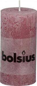 Bolsius Rustik Stumpenkerze ,  altrosa, Höhe 10 cm, Ø 5 cm