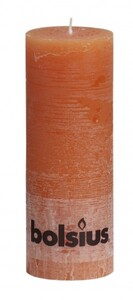 Bolsius Rustik Stumpenkerze ,  orange, Höhe 19 cm, Ø 6,8 cm
